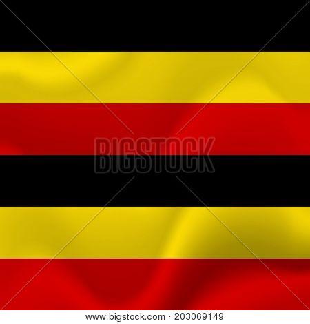 Uganda waving flag. Waving flag. Vector illustration.