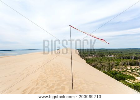 The Dune of Pilat - the tallest sand dune in Europe. The dune is located in La Teste-de-Buch in the Arcachon Bay area France