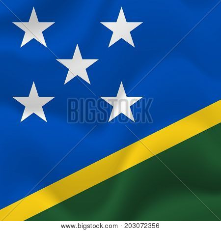 Solomon Islands waving flag. Waving flag. Vector illustration.
