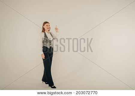 Confident In Her Abilities. Girl Businesswoman. Glamour Fashion Style Catalog Casual Clothes For Bus
