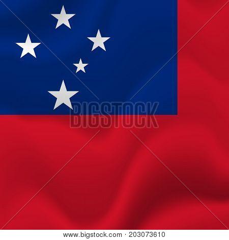 Samoa waving flag. Waving flag. Vector illustration.