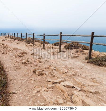 Old Wooden Railings On Cabo Da Roca