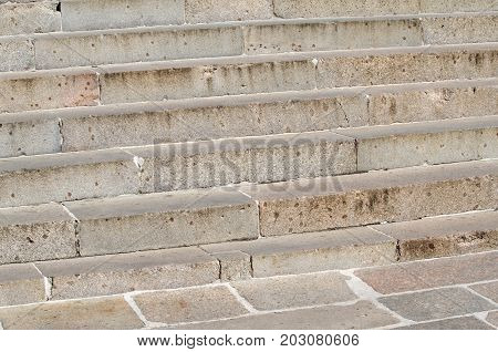 the very old Granite stairs steps background