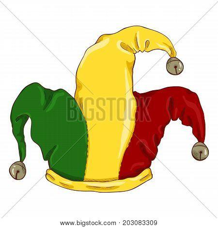 Vector Single Cartoon Color Jokers Hat