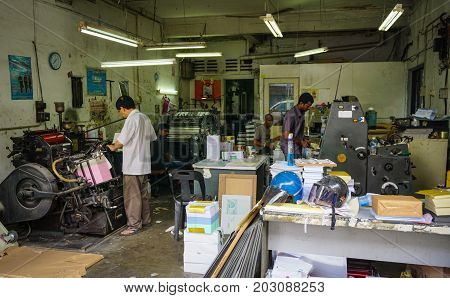 People Working At Printing Factory In Malaysia