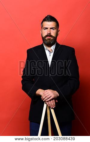 Guy With Stylish Hairdo And Serious Or Concentrated Face