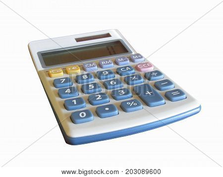 Solar calculator isolated on white background . Business concept