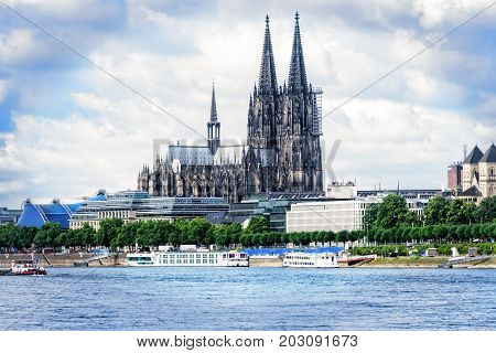 Cologne Cathedral in Cologne Germany one of the largest Roman Catholic churches in Europe