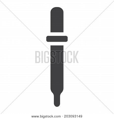 Pipette glyph icon, medicine and healthcare, eye dropper sign vector graphics, a solid pattern on a white background, eps 10.