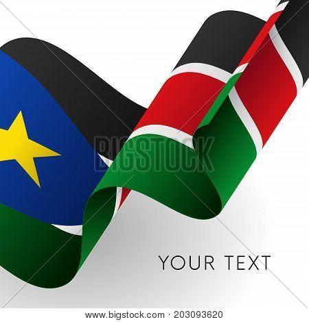 South Sudan flag. Patriotic design. Vector illustration.