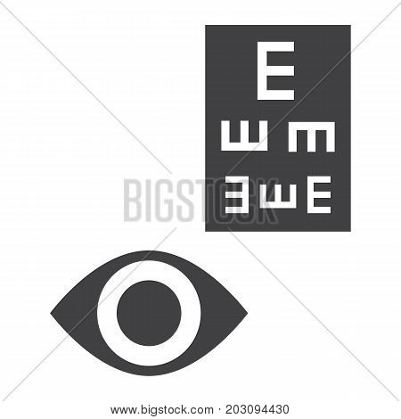 Optometry glyph icon, medicine and healthcare, eye sign vector graphics, a solid pattern on a white background, eps 10.
