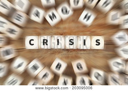 Crisis Financial Management Communication Depts Dice Business Concept