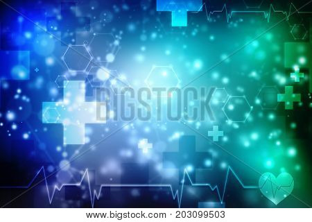 Medical abstract background, ecg background, scientific background.