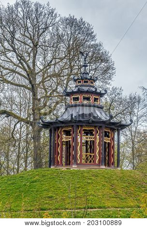 Pavilion in Hermitage garden in Bayreuth Germany