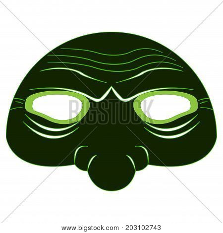 Isolated halloween zombie mask on a white background, Vector illustration