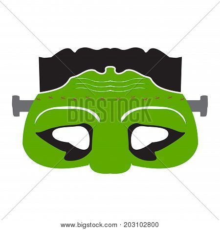 Isolated undead mask on a white background, Vector illustration