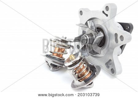 Water Pump And Thermostat