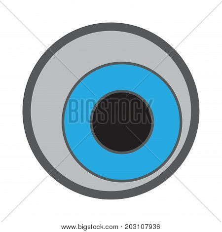 Isolated eyeball on a white background, Vector illustration