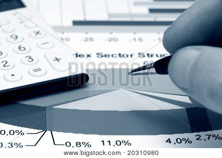 Analysis of stock market sector structure.