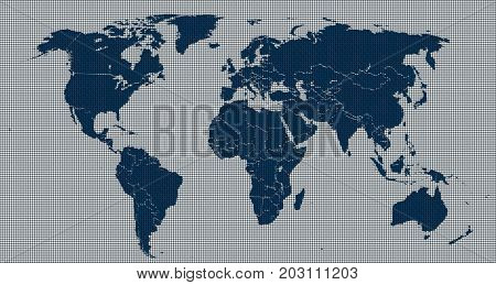 digital map of the world