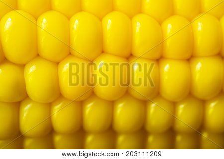 Boiled corns, close up