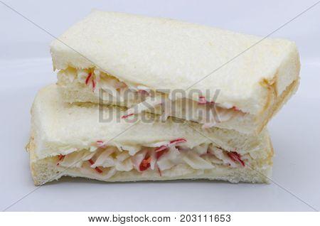 Mayonnaise Crab Sandwich
