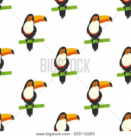 tucan on white background toucans on bamboo seamless pattern toucan a rainbow exotic bird