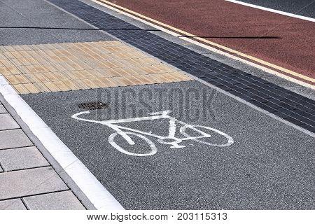 Cycling Lane In Uk