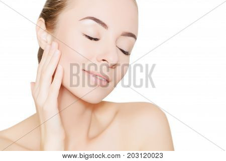 woman portrait for design and illustrating skincare concept