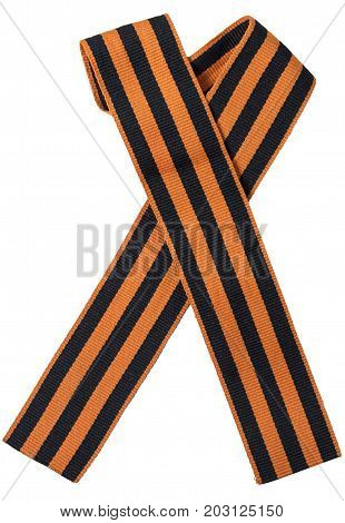 George Ribbon on a white background close-up