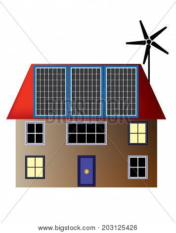 Solar and Turbine energy generate for household use