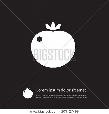 Fresh Vector Element Can Be Used For Fresh, Tomato, Food Design Concept.  Isolated Food Icon.