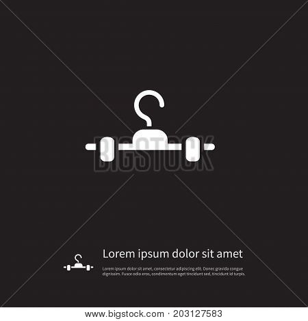 Hanging Vector Element Can Be Used For Hanger, Hanging, Cloakroom Design Concept.  Isolated Cloakroom Icon.