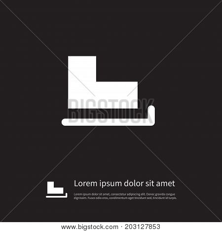 Slide Vector Element Can Be Used For Slide, Skates, Ice Design Concept.  Isolated Skates Icon.