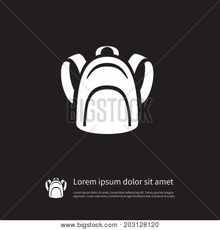 Haversack Vector Element Can Be Used For Haversack, Backpack, Bag Design Concept.  Isolated Packsack Icon.