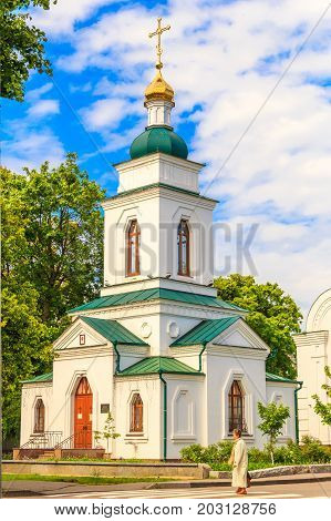 POLTAVA, UKRAINE - May 15, 2017: The Spasskaya Church is the operating church of the Poltava Diocese of the Ukrainian Orthodox Church of the Moscow Patriarchate. National architectural monument