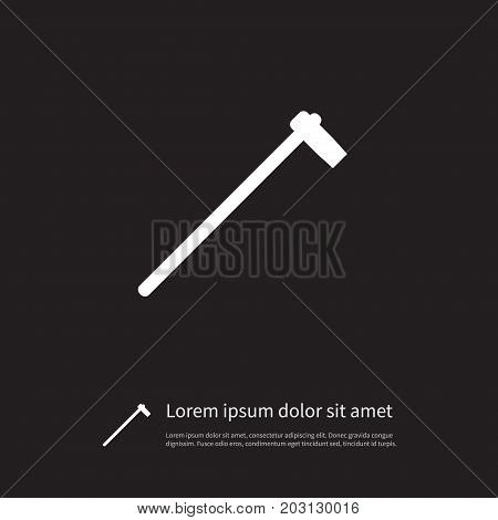 Tomahawk Vector Element Can Be Used For Ax, Tomahawk, Hatchet Design Concept.  Isolated Hatchet Icon.