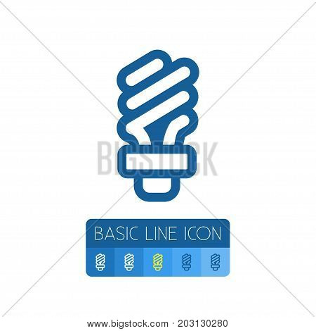 Fluorescent Vector Element Can Be Used For Fluorescent, Light, Bright Design Concept.  Isolated Light Outline.