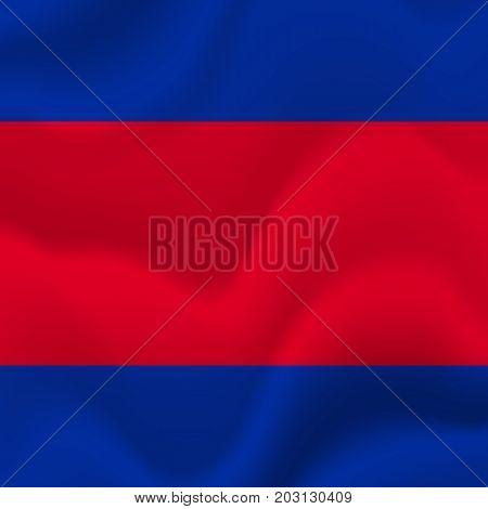 Cambodia waving flag. Waving flag. Vector illustration.