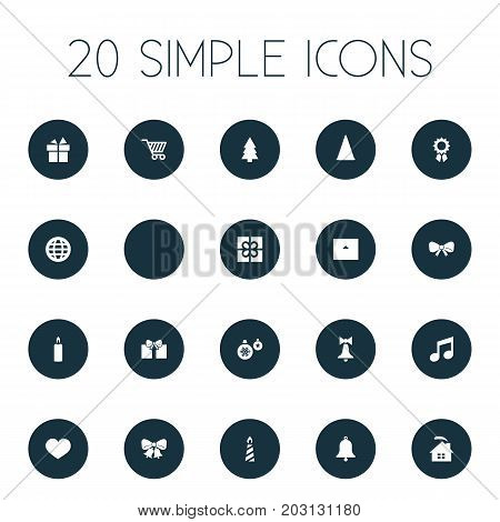 Vector Illustration Set Of Simple New Year Icons