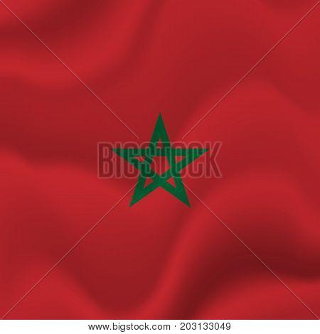 Morocco waving flag. Waving flag. Vector illustration.