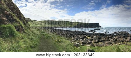 Giant's Causeway landscape in Northern Ireland Europe