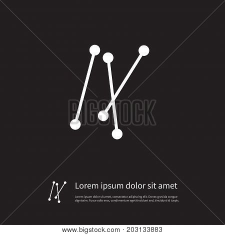 Stick Vector Element Can Be Used For Swab, Stick, Buds Design Concept.  Isolated Swab Icon.