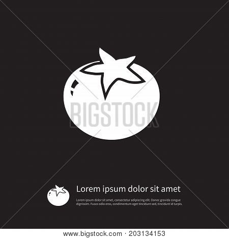 Tomato  Vector Element Can Be Used For Love, Apple, Tomato Design Concept.  Isolated Love Apple Icon.