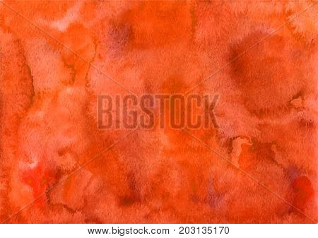 Handpainted bright orange autumn watercolor blank backgrounds.