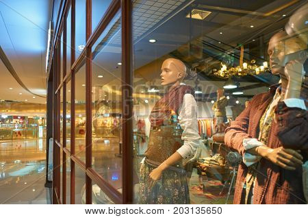 SHENZHEN, CHINA - OCTOBER 13, 2015: mannequins at a store in Shenzhen. Shenzhen excellent shopping choices and offers tourists great shopping opportunities.