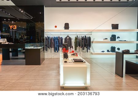 SHENZHEN, CHINA - OCTOBER 15, 2015: Y-3 store at KK Mall shopping mall.