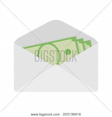 Wages in the envelope. Salary. Transfer money. Vector illustration