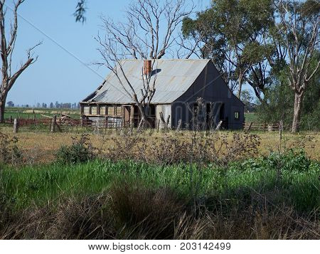 Boundary rider's house on rural Australian property.
