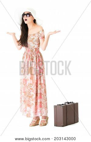 Beauty Young Woman Wearing Summer Dress Clothing